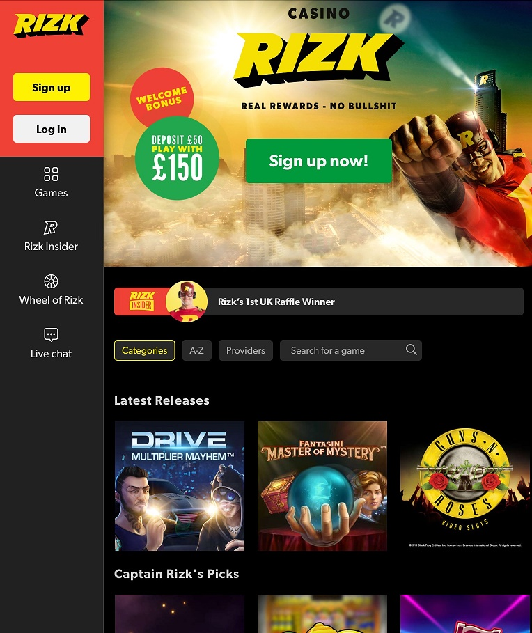 Rizk Online Casino - Wheel Of Rizk Bonus - From Zero To Hero!