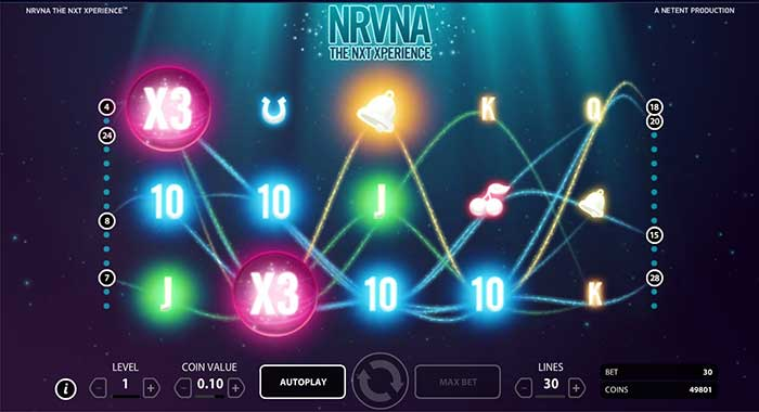 nrvna the nxt xperience slot machine netent