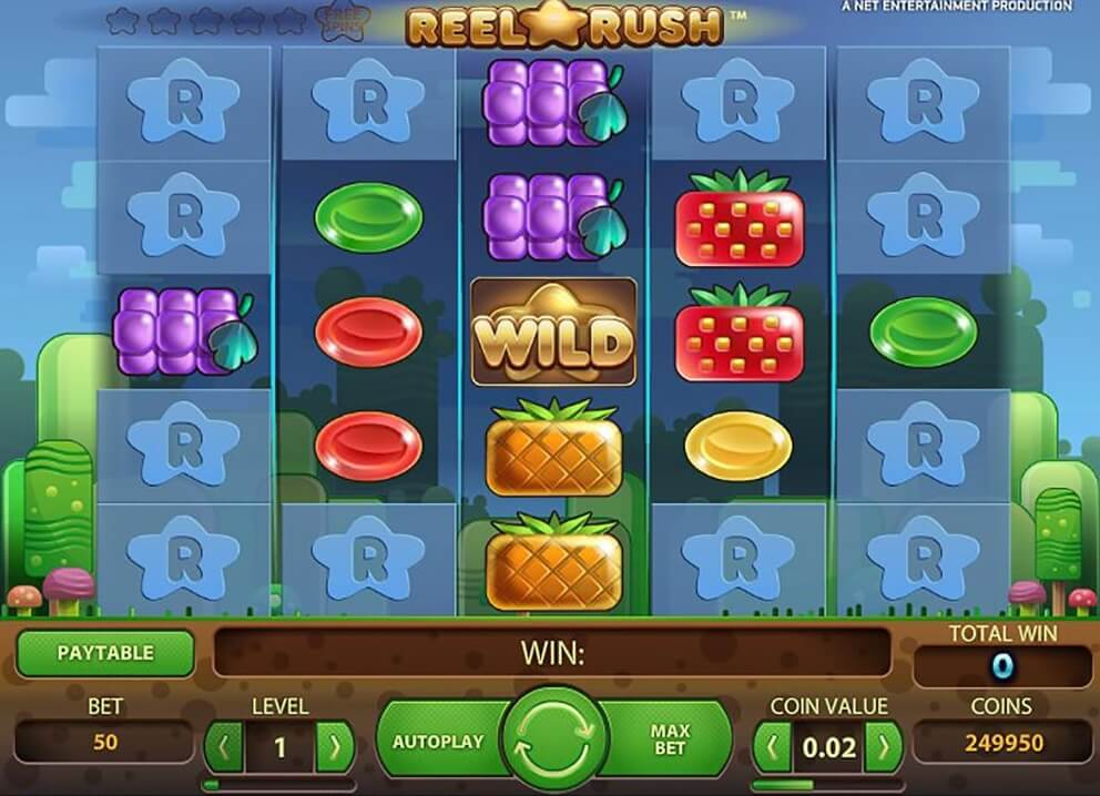 reel rush slot netent free spins
